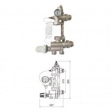 Насосно-смесительный узел TIM 20-90 °С для теплых полов, без насоса, без байпаса(JH1036)
