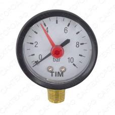 """Манометр радиальный 6 bar 1/4"""" TIM (D-50мм)"""