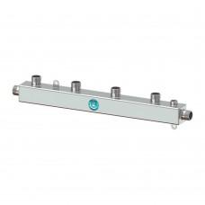 Коллектор нержавеющий Север-К4 AISI до 130кВт, 4 контуров