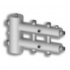 Коллектор с гидрострелкой Север-RМ3 AISI, 3 контура, нержавеющая сталь, круглый профиль