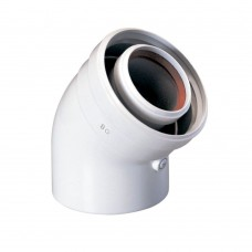 Коаксиальный отвод 45 гр 60/100, для настенных котлов Baxi проходной