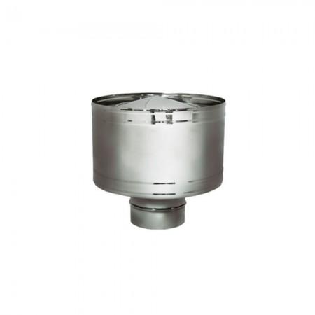 Дефлектор 180 мм (матовый). Дымоход Вулкан одностенный