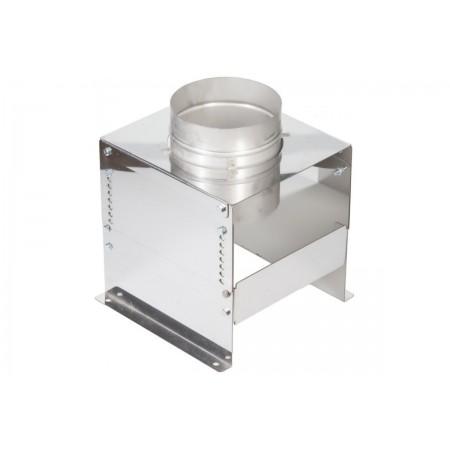 Основание напольное aisi 304 250 мм (матовая). Дымоход Вулкан одностенный