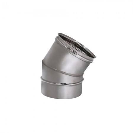 Отвод 15°, 30° 200 мм (матовая). Дымоход Вулкан одностенный
