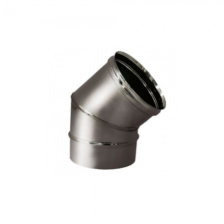 Отвод 45° 200 мм (матовая). Дымоход Вулкан одностенный