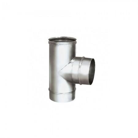 Тройник 90° 150 мм (зеркальная). Дымоход Вулкан одностенный