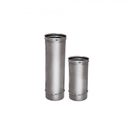 Труба L=1000 мм 130 мм (зеркальная). Дымоход Вулкан одностенный