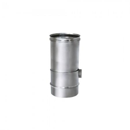Труба телескопическая L=250 мм 130 мм (зеркальная). Дымоход Вулкан одностенный