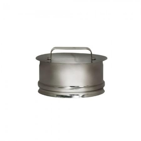 Заглушка-ревизия 130 мм (зеркальная). Дымоход Вулкан одностенный