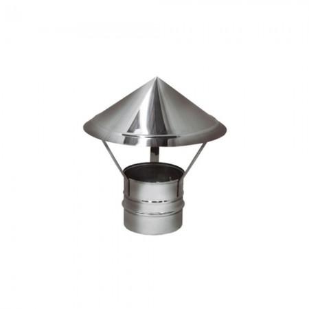 Зонт 200 мм (матовый). Дымоход Вулкан одностенный