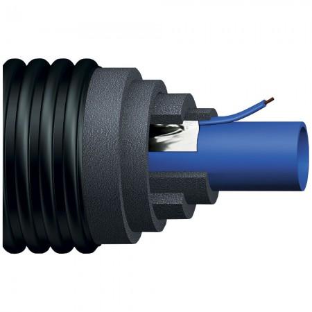 Теплоизолированная труба Uponor Ecoflex Supra Plus 40x3,7/140 PN10 с греющим кабелем 10Вт/м для ХВС