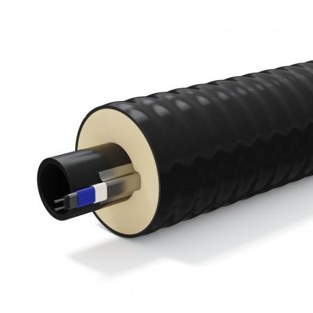 Труба теплоизолированная однотрубная ТВЭЛ-ПЭКС-ХВС 100 ПЭ SDR 13,6 25х2,0/90 для холодного водоснабжения
