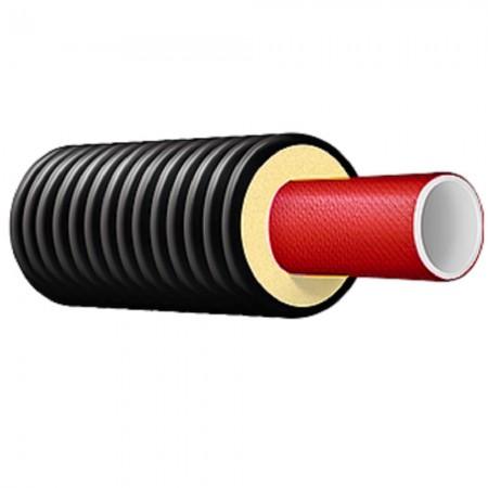Труба теплоизолированная однотрубная ТВЭЛ-ПЭКС-К (Изопэкс-К) 110/160 (101х6,5) 10 бар армированная